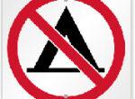 Free camping ban