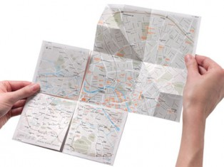 High-tech folding paper maps