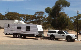 Grey nomad character of the road on the Nullarbor