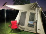 Grey nomads and lighted tent poles from Doble Outdoors