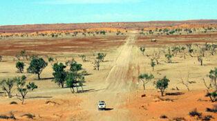 Grey nomads in Australia in Outbacko