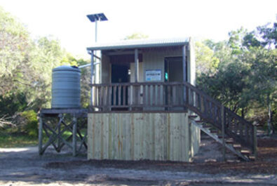 Self-composting toilets like this are located at four Inskip Point camping areas. PIC: Queensland Government