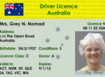 Australian federal driving licence for grey nomads