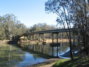 Barmah sits in the Murray River