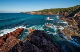 Dramatic coastline at nearby Ben Boyd National Park