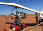 ultra-light aircraft landing