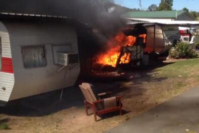 Kilcoy caravan park fire