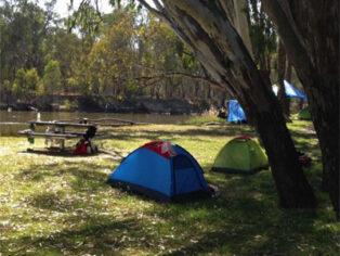 Murray River campsite