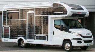 Solar panel motorhome