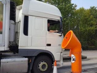 Orange funnel bins