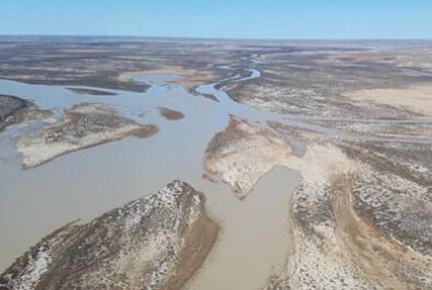 Lake Eyre floodwaters