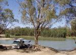 Grey nomads camping at the Murray River