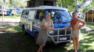 Happy grey nomads on the Big Lap