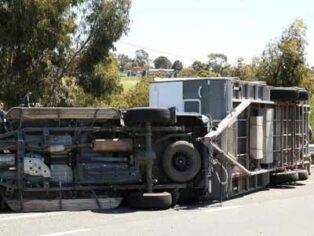 Caravan rollover in Geelong