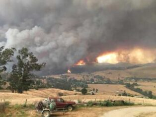 Bushfire at Buchan