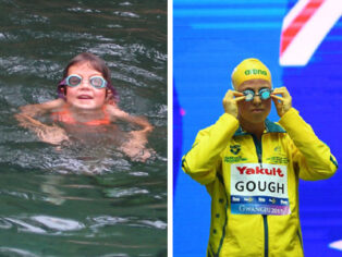 Maddy Gough on the Australian Swimming Team