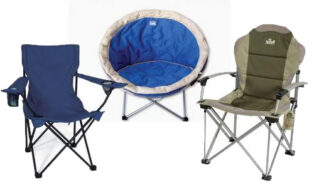 Campchairs come in many shapes and sizes