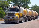 Road train on the road