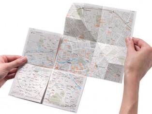 High-tech folding paper maps