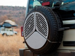 Wheel barbecue for grey nomads