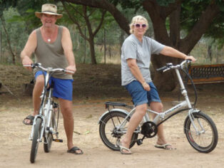 Grey nomad motorhomers hit the cycles