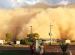Huge dust storm engulfs Bedouriee