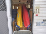 Kayaks travel with grey nomads