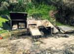 Sleeping family escapes camper trailer blaze at Teewah camping area in Queensland