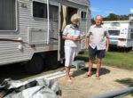 Caravan park damaged by cyclone
