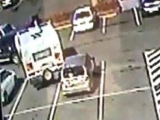 Caravan reversing accident in car park
