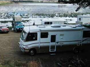 A free camping area in Tasmania.