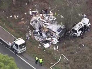 Caravan rollover near Brisbane shocks grey nomads
