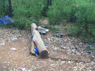 Rubbish at campsites