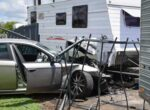 Caravan dealership accident