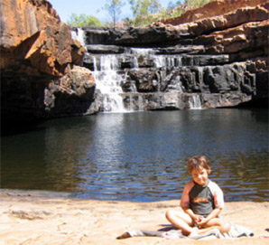 Maddy Gough swimming at Bell Gorge