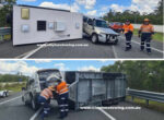 Caravan rolls over on Bruce Highway