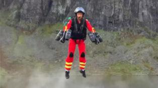Jet pack powered paramedics