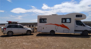 grey nomads and motorhome