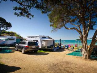 camping at Sorrento foreshore