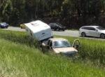 caravan accident on Sunshine Coast