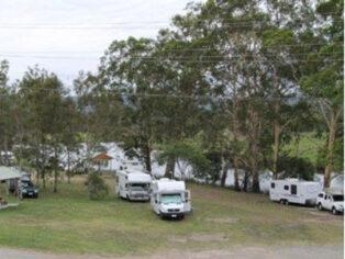 camping at lions park in Bulahdelah