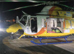 Rescue 300 helicopter airlifts rooftop tent camper