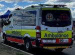 QAS at caravan accident scene